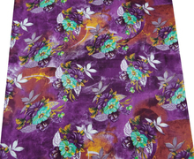 "100% Pure Cotton Fabric Floral Print 42""Wide Home Decor Sewing Material By The Yard India FBC4609"