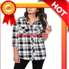 100% cotton flannel plaid fabric for Men's shirts men and women