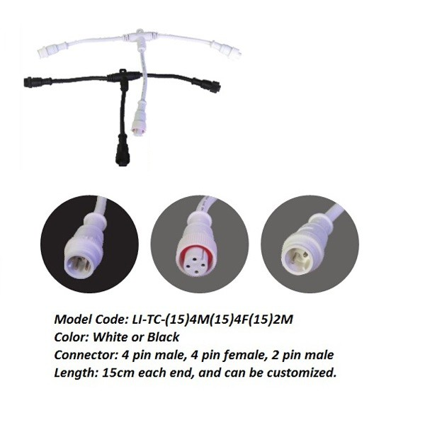 waterproof connector T splitter