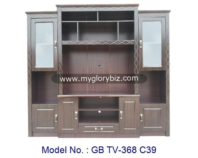 New design mdf board tv cabinet furniture modern tv stand for Tv cabinet designs for hall