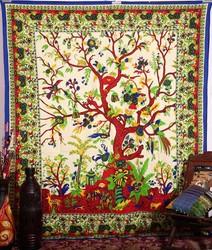 Tree of Life Tapestry Indian Mandala Wall Hanging Hippiy Bedspread Boho Coverlet Throw Picnic Beach Sheet