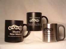 promotional customized logo enamel mug cup