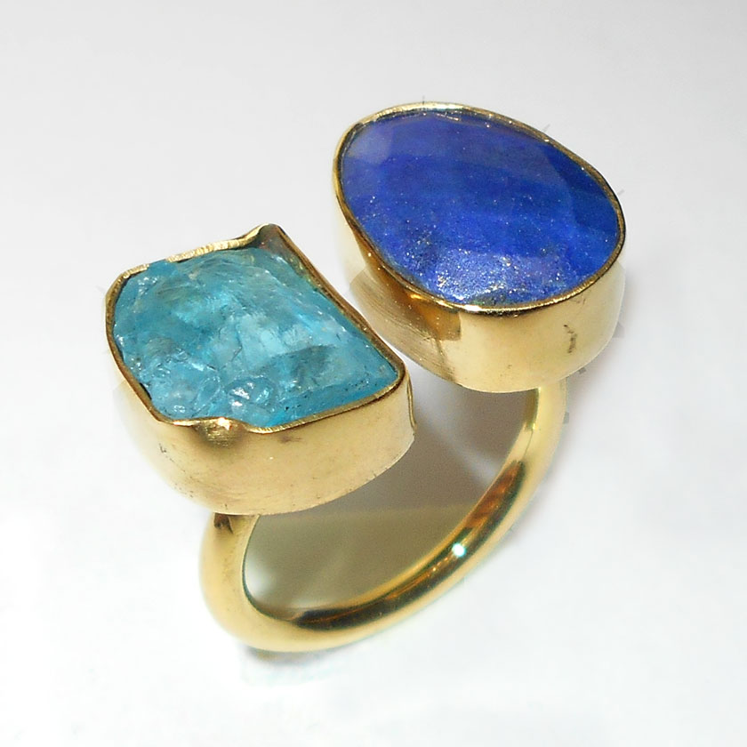 two semiprecious gemstone wholesale costume rings
