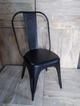 Black Metal chair,industrial metal Dining chair in Black