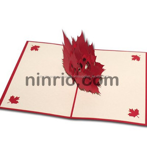 Мапл лист 3d pop up карта