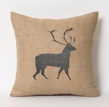TC 118, LIVEGREEN Jute Burlap Cushion Cover for christmas decoration