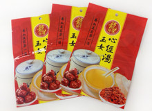 3 side seal double sided printed plastic bag,colourful series pack for herbal soup,high quality chinese herb soup base pack