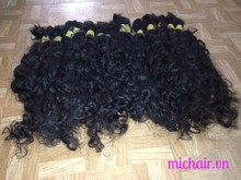 Hand-tied weft hair! 100% virgin hair. wavy /curly hair extension remy high quality!!!