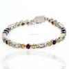 925 Sterling Silver Indian Garnet and Citrine Bracelet Jaipur Silver Gemstone Jewelry Manufacturer