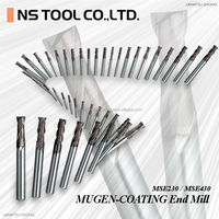 Various type of carbide end mill metal cutting tools applies to wide variety of work materials