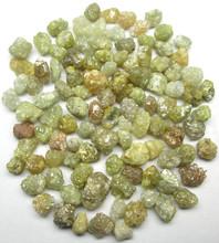 Natural Yellow Uncut Raw Rough Diamond