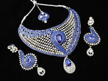 NEW INDIAN DESIGNER WHOLESALE ARTIFICIAL WEDDING BRIDAL KUNDAN JEWELLERY/JEWELRY NECKLACE EARRINGS SET