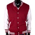 blanco al por mayor chaquetas de béisbol/para hombre universitario chaquetas letterman