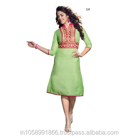 Stand Collar Kurta Designs : Stand collar women kurti linen tunic and kurtis online