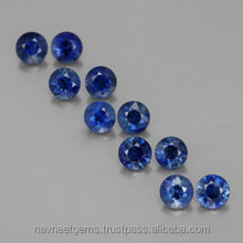 Buy loose wholesale faceted normal cut 5mm round thailand blue sapphire