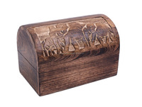 Country Style Decorative Wooden Storage Box Chest with Elephant Carving/Wooden Box/Indian Wooden Boxes 2015