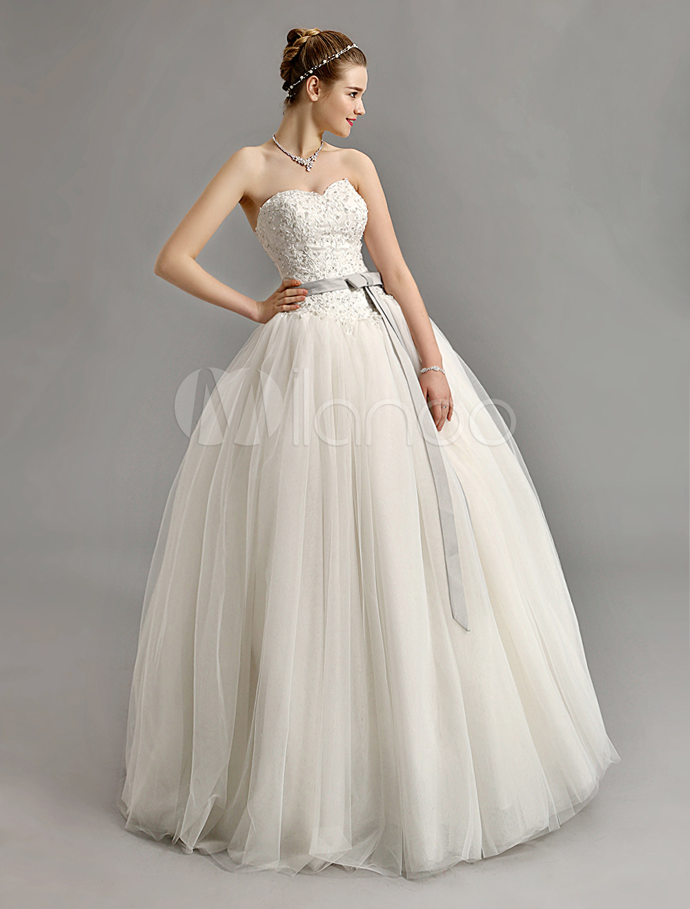 Ball Gown Wedding Dresses With Color : Wholesale sweetheart ball gown wedding dress with colored