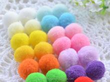 Glitter pompoms, acrylic pompom,Assorted Color Metallic Tinsel Pompoms