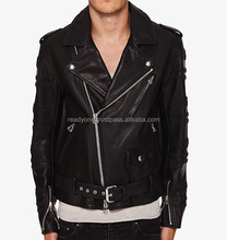 Fashion Black Men Leather Fur Jacket,Custom European Coat Fashion High Quality Leather Sleevess Long Man