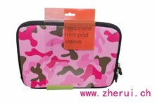 neoprene Pink Camo Mini Tablet Sleeve For PAD