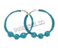 Resin Rhinestone Basketball Wives Hoop Earrings