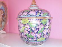 Thai Benjarong Porcelain Bowl and Hand Painted porcelain bowl