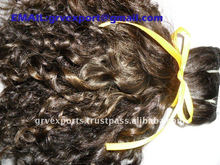 machine humanhair weft