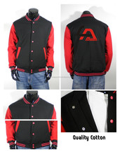 fleece polyester baseball jacket/sports jacket Paypal accepted