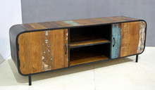 ROYAL INDUSTRIAL TV CABINET WITH TWO DOORS , UNIQUE TV STAND
