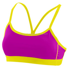 Simple Ladies Bra Yellow Rib Design