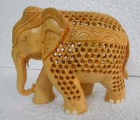Wooden Carving Elephant Statue-503