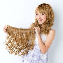 Easy to use and High quality heat resistant synthetic hair pieces hair extension with Heat-resistant