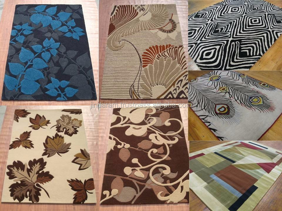 Contemporary pure linen patterned loop carpets of all sizes.JPG