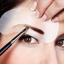 Nice 4pc Style Eyebrow Stencils Eye Brow Template Shaper Make Up