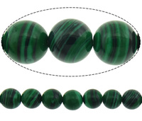 Malachite Beads Round stripe 6mm Hole:Appr 1mm Length:15.5 Inch 10Strands/Lot 67PCs/Strand Sold By Lot