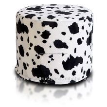 Cotton Canvas printed cube beanbag