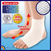 Original irregularities knitted ankle support to stimulate acupuncture points