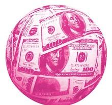 "9.5"" PINK MONEY REGULATION BASKETBALL"