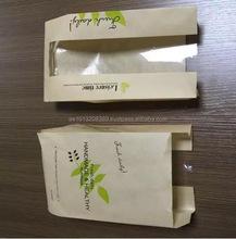 Custom brand printed white kraft paper bread bag with window