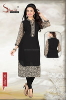 The Black Mystique Indian Designer Long Kurta