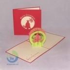 Handmade Christmas Tree Greeting Card For Holiday