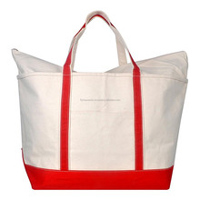 Promotional 12 oz Polyester Canvas Large Boat Tote Shopping Bag with Custom Design