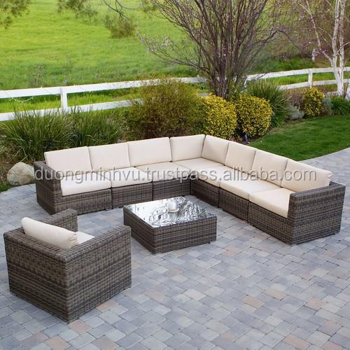 Outdoor sofa best seller 2015 PE rattan and Aluminum frame garden furniture
