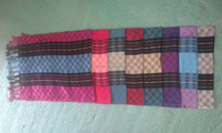 100% VISCOSE MEN's AND LADIES' FASHION DESIN YARN DYED SCARF SCARVES