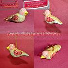 Handpainted pássaro decoração de natal decoração de suspensão- papier mache pássaro