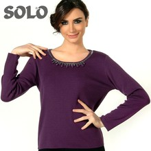 women purple color Sweater