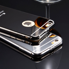 Ultraslim Mirror Aluminum Mobile Phone Case For iPhone 6Plus Luxury Acrylic Back Cover Alloy Phone Case for iPhone6