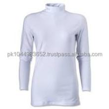 100% polyester popular mock neck t shirt for women