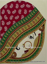 Customized Dulhan Padded Wedding Cards | Colorful Ethnic Wedding Collection