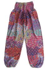 Bird Feather Design Baggy Loose Fitting Harem Pants